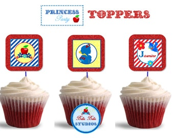 PRINCESS Cupcake TOPPERS ~ Printable Instant Download