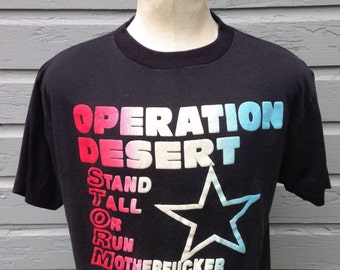 Early 1990's Operation Desert Storm t-shirt, large