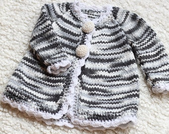 long sweater,knitted coat,little girl gift,18m baby girl knitted sweater
