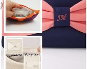 MONOGRAMMING option for clutches ,bridesmaid gift ,wedding gift