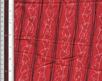 "Heart Stripes - 143"" - 100% Cotton Fabric"