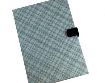 Ipad Pro iPad Air Case 1 2 3 4 Air Blue brown Plaid Hard Case, iPad Cover, i Pad stand up iPad mini Camera Hole i Pad