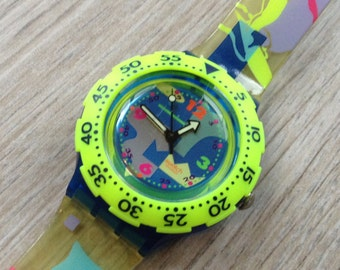 Wristwatch Vintage Swatch watch snowboarder watch Swiss watch Eta Movement On Sale