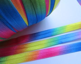"10y Shinny FOE 5/8"" Elastic-Colorful L015"