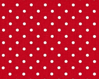 CLEARANCE Decorative Pillows- Premier Prints Lipstick Red Mini Dot Pillow Cover- 14x14- Zippered Pillow- Cushion Cover- Baby Decor
