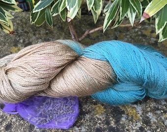 "Laceweight weight silk/baby camel  yarn ""Grecian statues  """