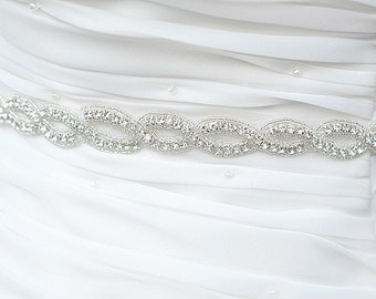 SALE Wedding Belt, Bridal Belt, Sash Belt, Crystal Rhinestone Sash -