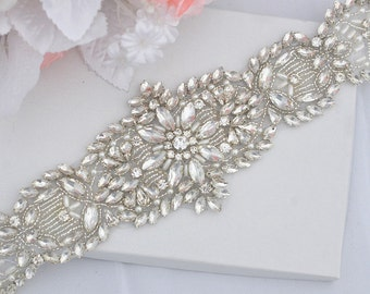 SALE Wedding Belt, Bridal Belt, Sash Belt, Crystal Rhinestones sash belt, party sash