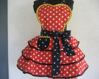 Minnie's Apron Womens Retro Pinup