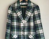 Plaid blazer size small