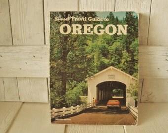 Vintage book Sunset Travel Guide to Oregon 1976
