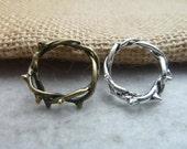 30pcs 16mm The Garland  Antique Bronze Retro Pendant Charm For Jewelry Bracelet Necklace Charms Pendants c6968-c7486