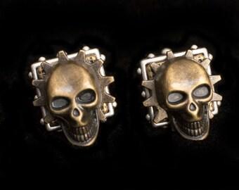 Steampunk Skull Cufflinks Skull Cufflinks Steampunk Cufflinks Steampunk Wedding Steampunk Groom Steampunk Gifts for Men