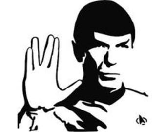 Spock decal likewise Star Trek Klingon Empire Logo Vinyl moreover B00csv4g0e additionally  on starfleet car stickers