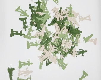 Army Men Confetti/ Military/ Welcome Home Party Decorating/ Birthday/ Supplies/ 100 Pieces