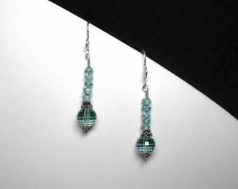 London Blue Topaz Earrings in Silver, 8 mm