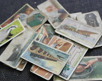 16 x assorted cigarette cards