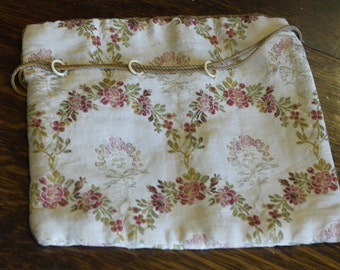 antique fabric sowing of jewlerey bag
