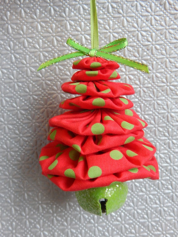 Red and lime green christmas tree ornament for Red and green christmas tree