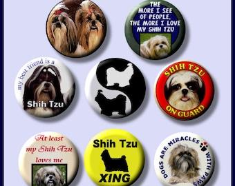 "SHIH TZU I love my pet dog 8 Pinback 1"" Buttons Badges Pins"