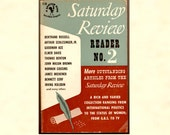 Saturday Review Reader No. 2 Vintage Bantam Paperback 1953 First Edition, Bertrand Russell Thomas Hart Benton James Michener & Others