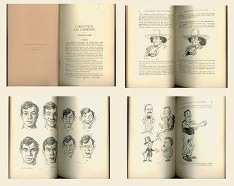1915 Book on How to Draw Cartoons, Caricaturing and Cartooning Editorial Cartoon Art International Correspondence Schools Vintage Book