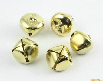 50Pcs 20mm Gold Bells Jingle Bells Pet Bells Cross Bells (JSSZLD20)