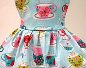 Bird on a Tea Cup Sleeveless Dress for your American Girl Doll D