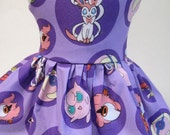 Pokemon Purple Sleeveless Dress made for your American Girl Doll G