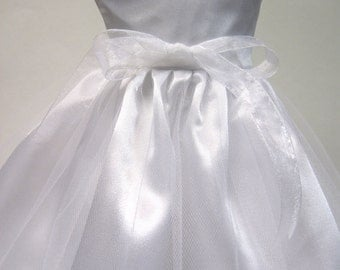 Communion/ Wedding Dress with Veil for Your American Girl Doll