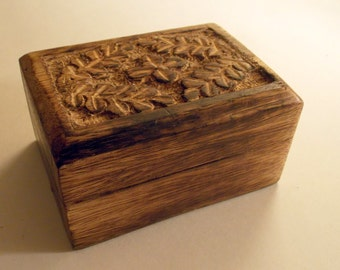 Small Hand Crafted Wooden Trinket Box