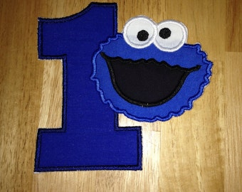 Cookie monster iron on patch
