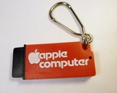 Vintage APPLE COMPUTER Pen Keychain, Key Holder, Ring - Advertising Salesman Promo - Highly Collectible