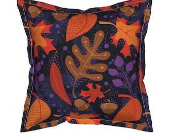 Autumn Pillow, Fall Pillow, Leaves Throw Pillow