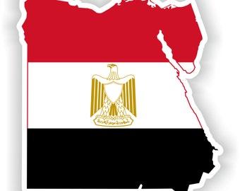 Egypt Map Flag Silhouette Sticker for Laptop Book Fridge Guitar Motorcycle Helmet ToolBox Door PC Boat