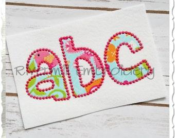 Cheri Candlewick Applique Machine Embroidery Font Monogram Alphabet - 4 Sizes