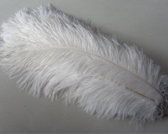 White 100pcs Snow White ostrich feather for wedding table centerpiece handmade Item Fascinator