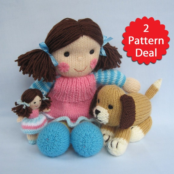 Puppy Love Maisie and Muffin 2 pattern deal toy doll and