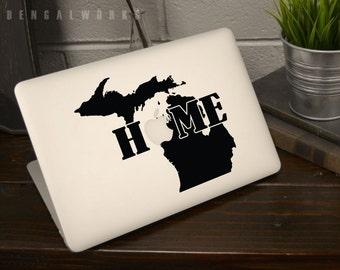 Michigan State Home Macbook Decal |Macbook Sticker | Laptop Decal | Laptop Sticker | Car Sticker
