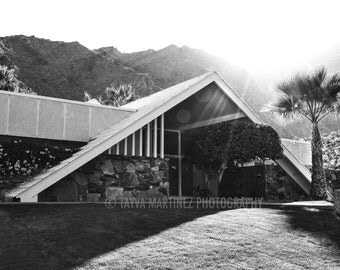 SALE - Alexander Swiss Miss house Palm Springs by Tayva Martinez Photography black and white photo print