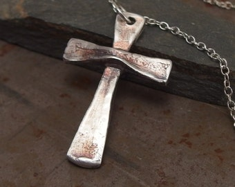 Sterling Silver Jewelry Cross Handmade Christian Cross Necklace for Men or Women