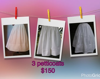 3 pc bundle of petticoats