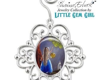 Cinderella Tree Ornament - Cinderella Christmas Ornament - Cinderella Charm - Fairy Tale Christmas Ornament Artwork by Shawna Erback