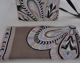 Vintage Pucci Purse with matching scarf 1970s  Vintage Emilio Pucci Purse