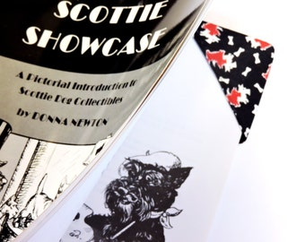 Scottish Terrier Bookmark,  Scottie or Westie Dog Fabric Corner Page Marker, Librarian Teacher Student Gift itsyourcountry