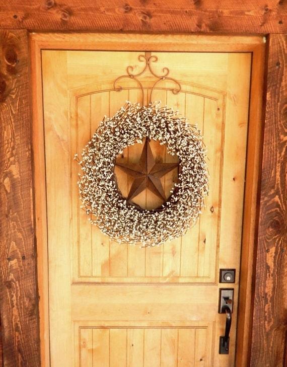 Primitive Door Wreath Rustic BARN STAR Wreath Primitive