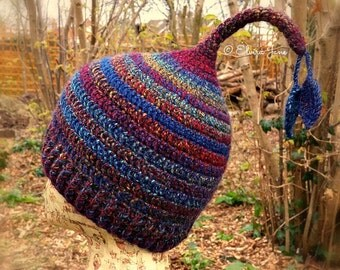 US Crochet Pattern for Adult Pixie Hat