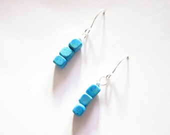 Magnesite Wire Wrapped Beaded Earrings TCJG