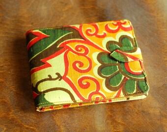 vintage 1960s Thai Silk mod print wallet