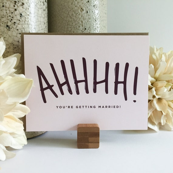 Wedding Gift Engagement Gift Funny Greeting Card